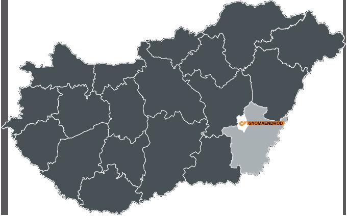 magyarország térkép gyomaendrőd Megújult a gyomaendrődi depónk | Express One   A Csomagszállító magyarország térkép gyomaendrőd